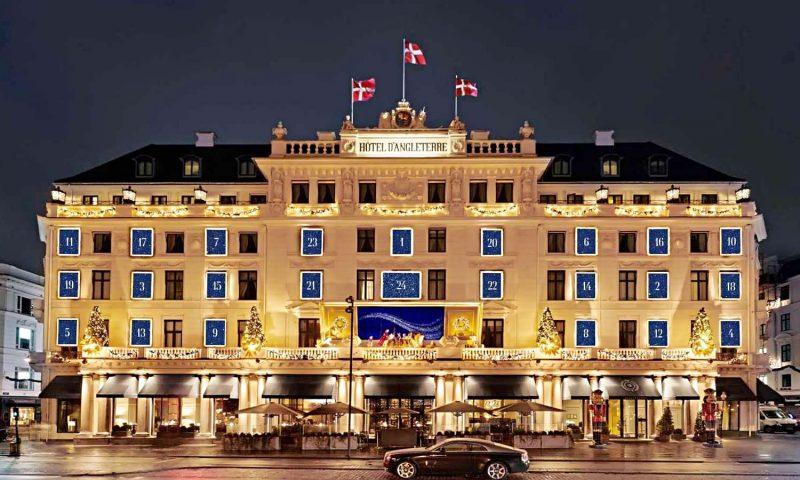 Hotel d'Angleterres julefacade. Foto PR
