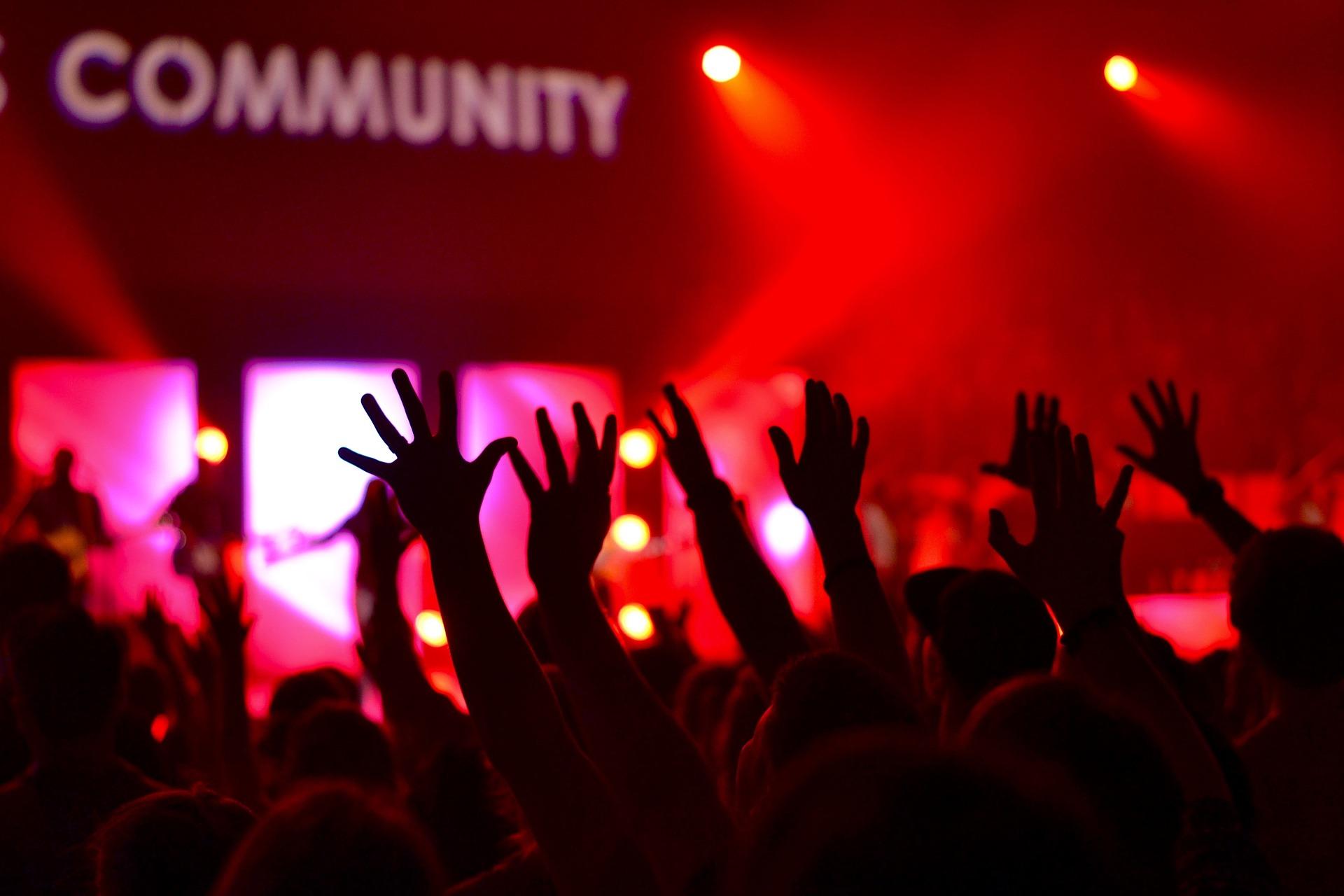Publikum til koncert