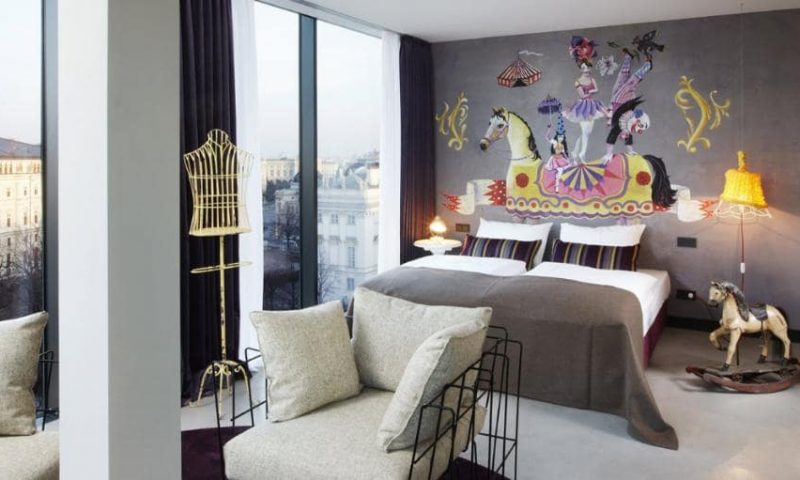 Sådan ser et 25Hours Hotel værelse ud i Zürich PR-foto