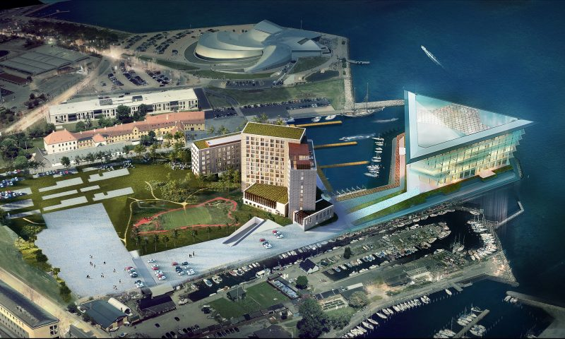 Illustration af det nye Airport Hotel