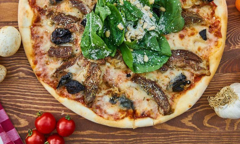 Vegansk pizza PR Foto