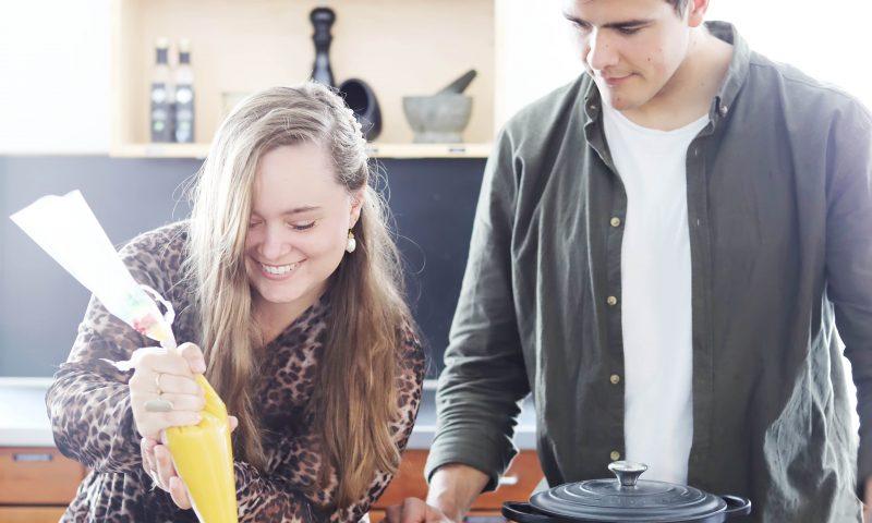 Instagrammer Frederikke Wærens og Jon Daniel Edlund, finalist fra Bagedysten lærer fra sig.