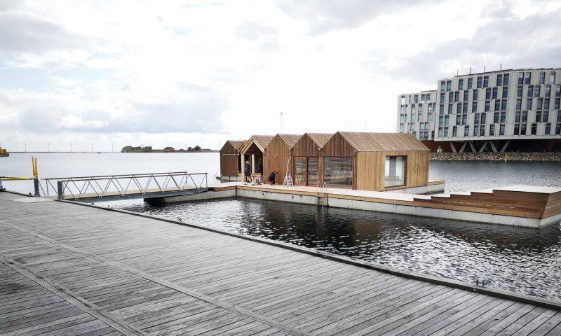 Det Flydende Aktivitetshus ved Sandkaj i Nordhavn  PR Foto