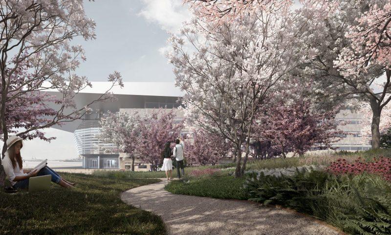 Visualisering af den nye Operapark udført af COBE PR Foto