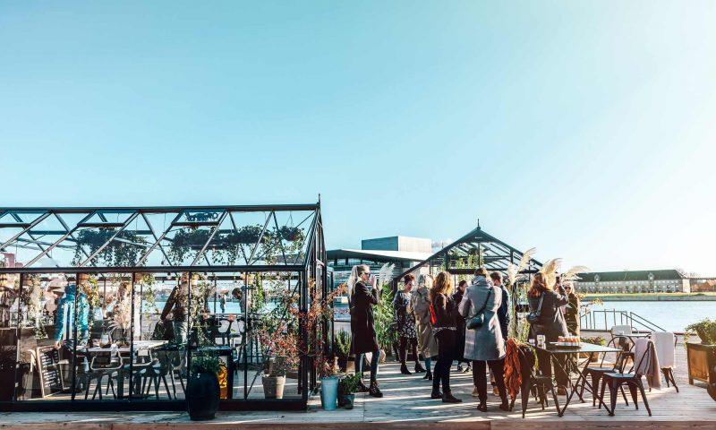 Kaffe i drivhuse på Ofelia Plads PR Foto