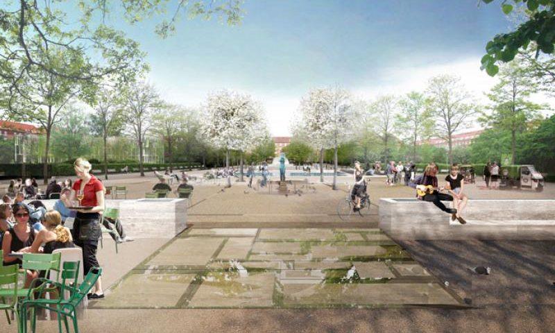 Sådan kommer Enghaveparken på Vesterbro til at se ud. Foto: Københavns Kommune
