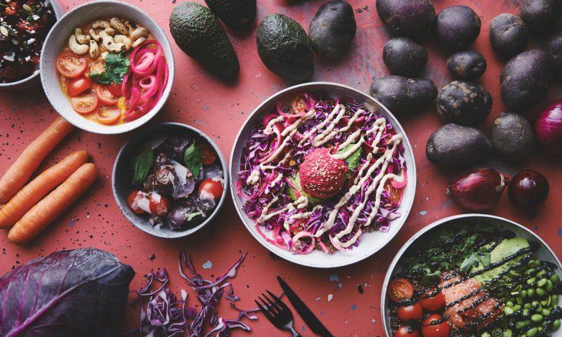 Pink mad og blå kaffe hos Flexitar PR Foto