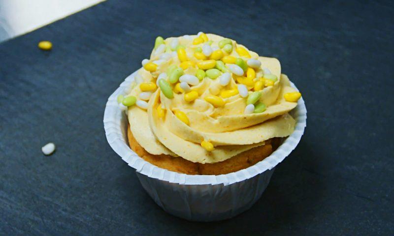 SMASK kylling i karry forklædt som cupcake  Experimentariums restaurant SMASK PR Foto