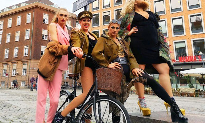 Drag queen cykeltur København Foto: Copenhagen Bicycles