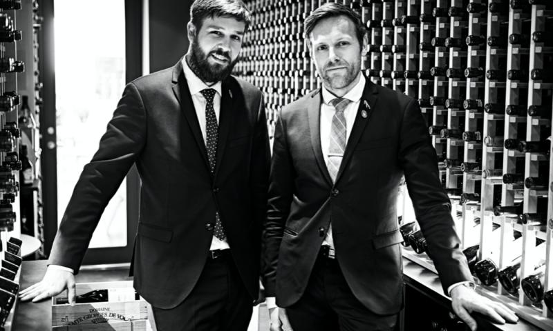 Foto: Mikael Båth, Head sommelier og restaurant manager og Søren Ledet, Wine director og general manager
