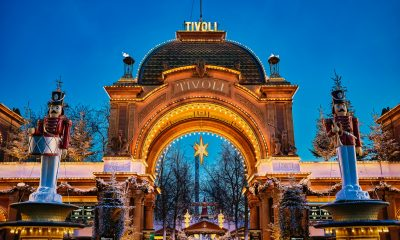 Jul i Tivoli 2018. Hovedindgangen Jul Aften