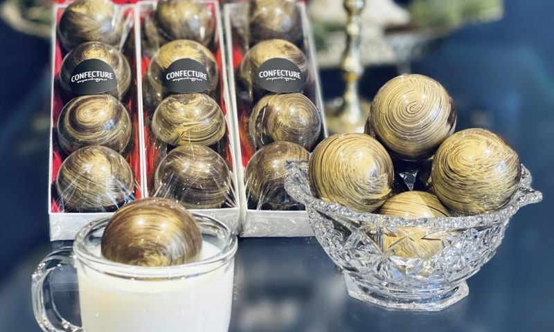 Årets mandelgave kan for eksempel være chokoladebomber fra Confecture Copenhagen. Foto: PR