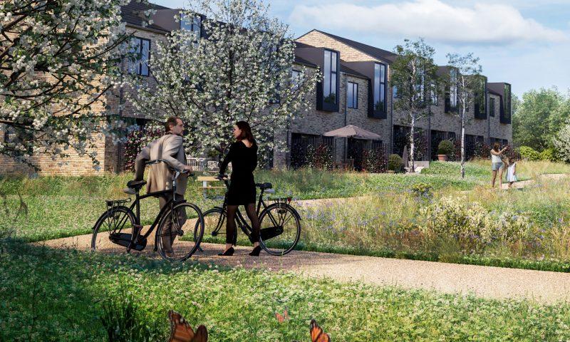Teglsøernes boliger ligger tæt på naturen og har god plads til hele familien. Foto: MT Højgaard Projektudvikling