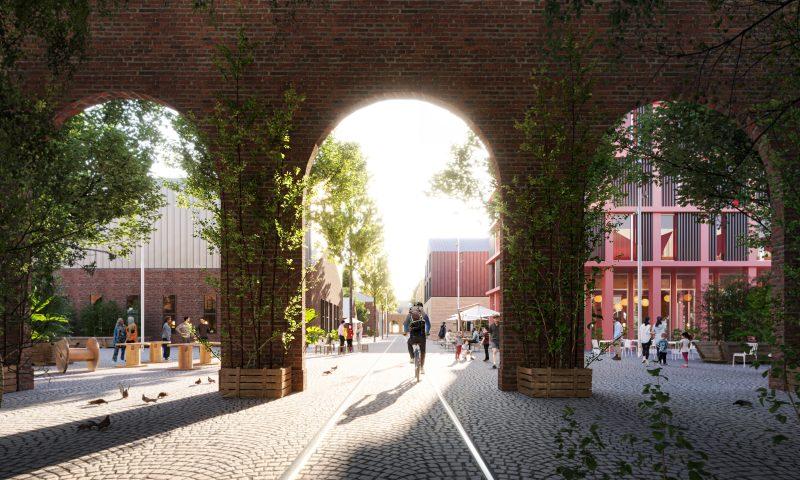Jernbanebyen er Københavns nye bydel. Foto: Team Cobe