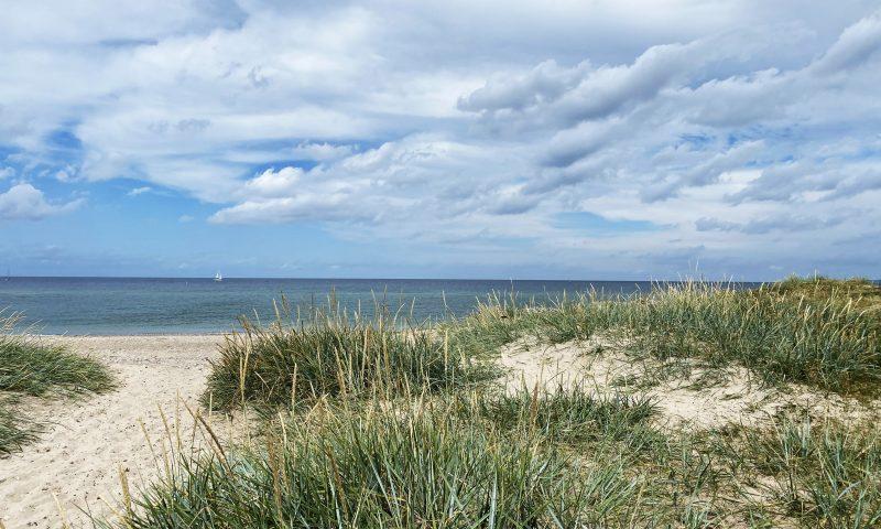 Man kan komme helt ned i gear på stranden i Gilleleje. Foto: Camilla L. Stahlschmidt