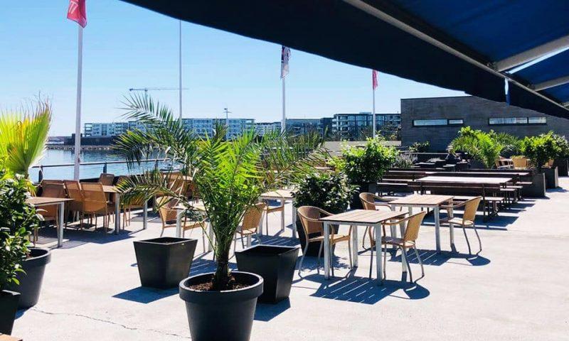 Hellerup Sejlklubs terrasse byder på både solskin og god udsigt. Foto: PR