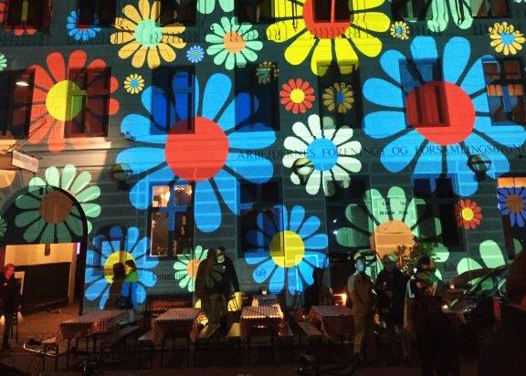 Arkivfoto. Her ses Arbejdermuseet klædt i festlige farver i anledning af Kulturnatten. Foto: PR